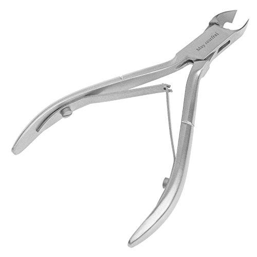 May - Feine Nagelhautzange mit 4mm Schneidefläche - Hautzange für die Nagelhaut Pflege - Edelstahl