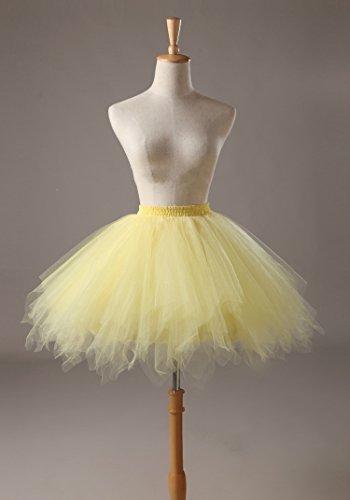 Honeystore Damen's Tutu Unterkleid Rock Abschlussball Abend Gelegenheit Zubehör Gelb