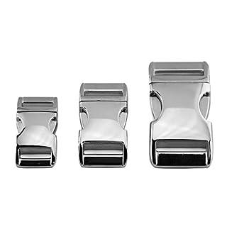 ALU MAX Klickverschluss aus leichtem Aluminium, Silber glänzend, 25 mm Gurtbreite, 1 Stück