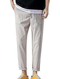9409e90f0f SOMESUN Moda Uomo Pantalone Jogging Sportivo Casuale Tinta Unita Tasca  Coulisse Biancheria di Cotone Pantaloni Lunghi,Morbido…