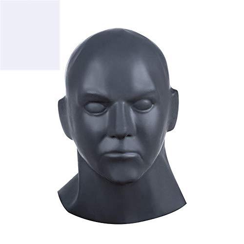 PJOS8E Männliche Haube Naturlatex Bondage Offener Mund Maske, -