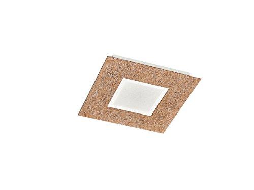 Kupfer-glas-lampe (Trio Leuchten 624210209 Chiros A+, Deckenleuchte, Metall, 12 watts, Integriert, Kupferfarbig/Glas Weiß satiniert, 30,00 x 30,00 x 4,00 cm)