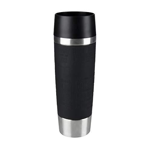 Emsa 515615 Travel Mug Standard-Design Grande, Thermobecher, 500ml, hält 6h heiß/ 12h kalt, Schwarz