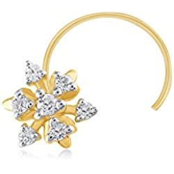 Carats For You Everlite Collection 18k (750) Yellow Gold and Diamond Nose Pin