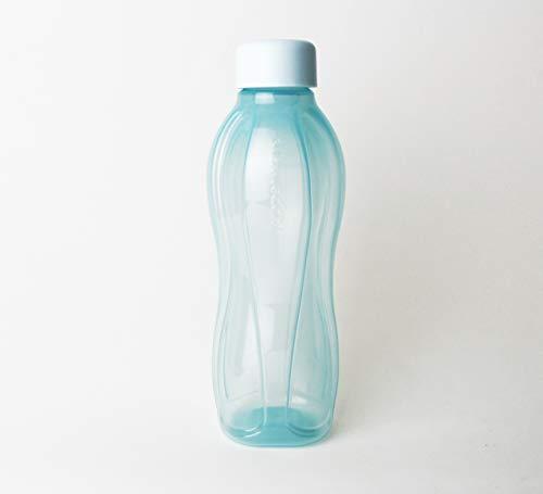 Tupperware_ to Go Eco 0,5L 500ml 0,5 Liter Trinkflasche EcoEasy Flasche Öko Ökoflasche türkis für Kohlensäure geeignet