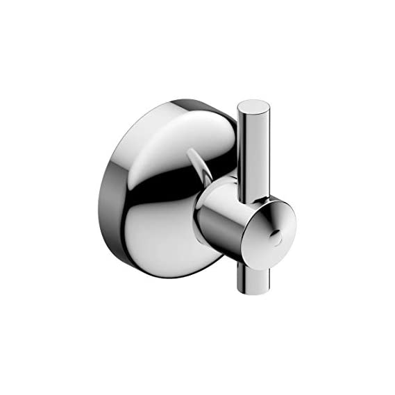 Amity Eco Stainless Steel Single Pin Robe Hook | 1-Pin Coat Hook | Cloth Hooks, Wall Mounted for Hanging Keys | Clothes | Towel, High Grade Steel with Chrome Finish
