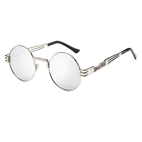 fazry Retro Brille Damen Herren Vintage Unisex große Sonnenbrille Gr. Einheitsgröße, a