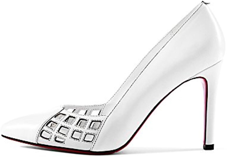2047cd6cb2ce63 NAN Femmes chaussures d'été creux creux creux talons hauts  respirant sexy mince talon bout pointu talons hauts travail de.