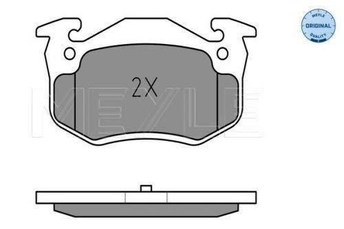 Meyle 025 209 7311 Kit de plaquettes de frein, frein à disque