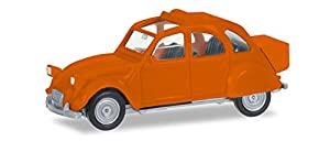 Herpa 027632-004 Citroen 2 CV mit Queue, Color Naranja