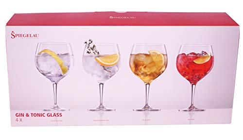 Spiegelau & Nachtmann, de 4Piezas Gin Tonic de Juego de Vasos, Cristal, 360ML, Special Glasses, 4390179