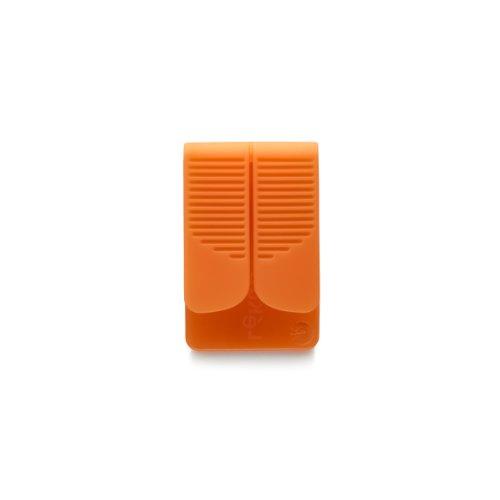 Lékué Exprimidor para bolsita de té o infusión, Silicona, Naranja, 75x45x15 mm