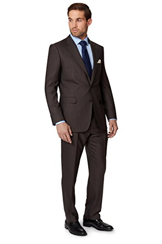 ermenegildo-zegna-cloth-mens-regular-fit-brown-sharkskin-suit-jacket-40r