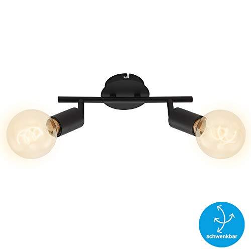 Briloner Leuchten Foco de techo de 2 luces, retro/vintage, focos giratorios e...