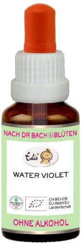 Sunasar Edis Water Violet alkoholfrei 15ml (Bio Bachblüten), 1er Pack (1 x 15 ml)