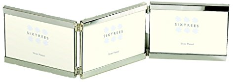 sixtrees-2-697-46ht-6-x-43-inch-vienna-silver-plated-top-and-bottom-hinged-triple-photo-frame