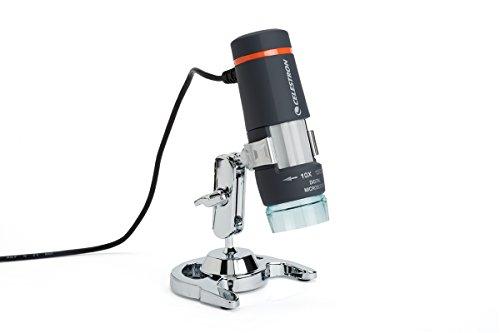 Celestron HDM-II Deluxe Digitales Mikroskop (2 Megapixel-Kamera, LED-Beleuchtung, 10-40x und 150x Vergrößerung)