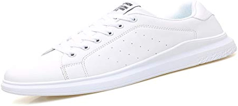 KMJBS Calzado de Hombre/Verano Hombres Zapatos Blancos Zapatos Deportivos Zapatos De Fondo Grueso Blanco Zapatos  -