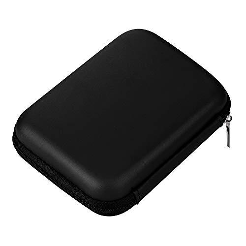 """Colorful Schutzhülle für Externe Festplatten/Festplattentasche / 2,5\"""" HDD Case, Hardcase für 2.5 Zoll Festplatte und SSD (Schwarz)"""