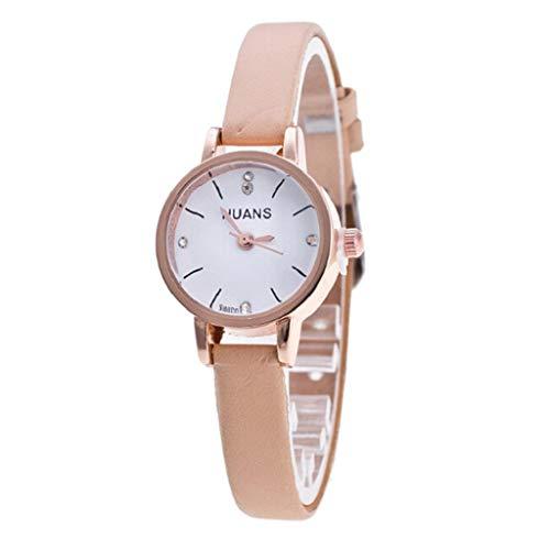 VJGOAL Damen Uhren, Frauen Mädchen Elegant Einfach Watch Classic Minimalistisches Quarzuhr Kleines Zifferblatt