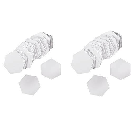 FLAMEER Pack von 200 Hexagon Englisch Papier Quilten Vorlagen Craft 8mm 12mm