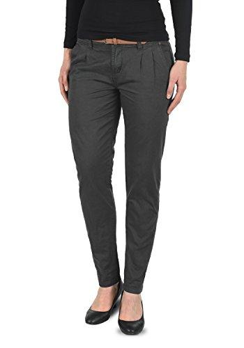 DESIRES Jacqueline Damen Chino-Hose lange Hose Business Casual aus 100% Baumwolle, Größe:42, Farbe:Dark Grey (2890)