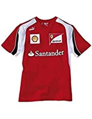Camiseta niño Ferrari Escudería F1 2012 rojo talla 12