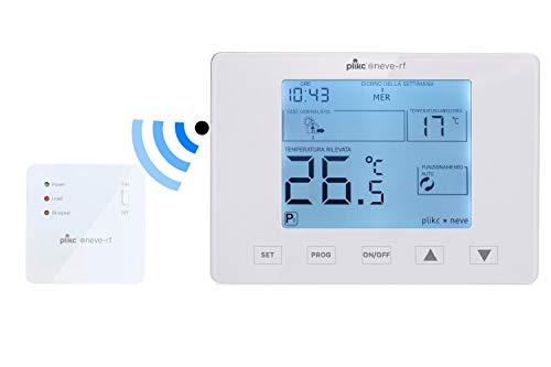 Cronotermostato settimanale digitale wireless a batterie Plikc - Neve rf 2