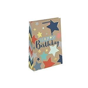 Just to Say 7733 - Bolsa de regalo de cumpleaños (tamaño mediano), diseño de papel de estraza
