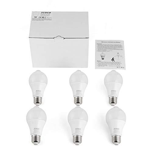 Qiong YaoTIAN Nachtlicht 6 stücke pir motion sensor led lampe lichter lampe e26 7 watt 3000 karat for haustür garage carport keller flur flur schrank -