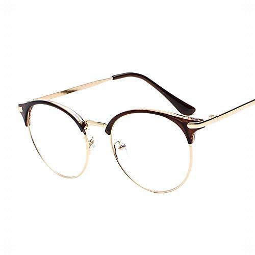 WULE-RYP Polarisierte Sonnenbrille mit UV-Schutz Frauen Retro Brillengestell Flat Mirror Nicht verschreibungspflichtige klare Linsen Brillen. Superleichtes Rahmen-Fischen, das Golf fährt (Farbe : C2)