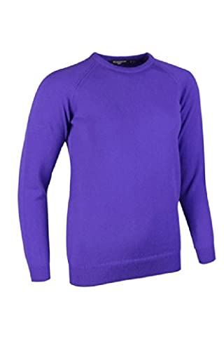 Glenmuir Ladies Crew Neck Lambswool Golf Sweater Violet S