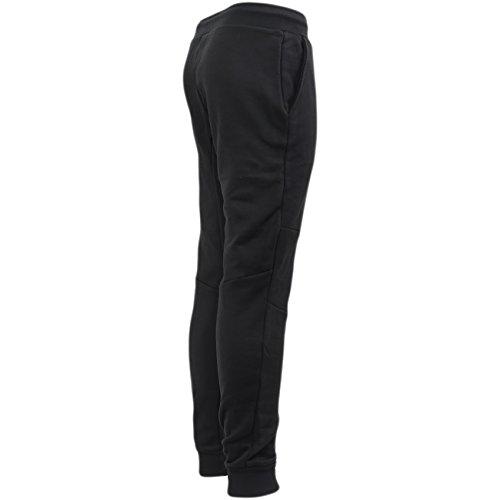 Just Hype -  Pantaloni sportivi  - Basic - Uomo Script Jogg - Black