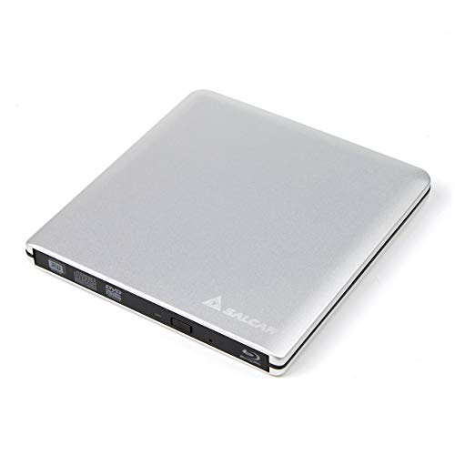 SALCAR Laufwerksgehäuse extern Slimline SATA USB3.0 (Externer Super Drive Caddy Box) Plug & Play für 9,5mm CD/DVD Laufwerk Brenner, nur EIN Gehäuse, Keine interne Maschine, Silber