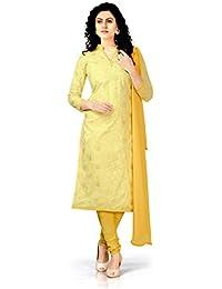 Fashila Salwar Suit Sets Cotton Silk Dress Material With Dupatta ( Rubber_Print_Dress_Dress Material_Beige_Free...