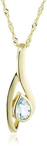 Fascination by Ellen K. 500340835-2 - Catenina con pendente da donna con topazio, oro giallo 8k (333), 420 mm