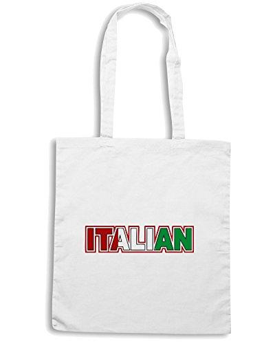 T-Shirtshock - Borsa Shopping OLDENG00142 italian italy italia souvenir Bianco