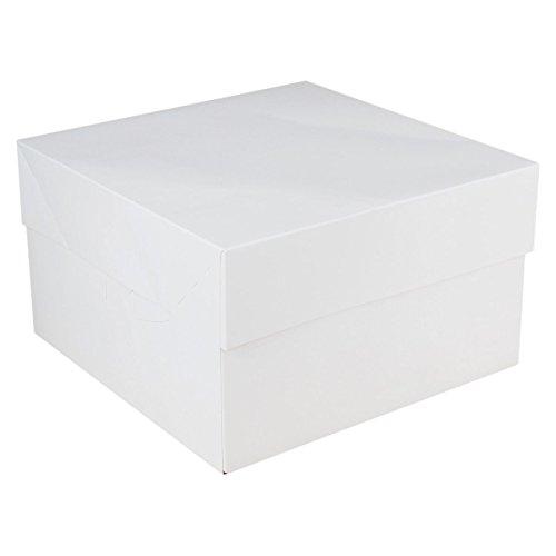 FunCakes Portatorta Blanko Bianco Scatola per Torte per trasportare 40 x 40 x 15