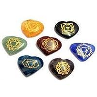 buycrafty Heilung Kristall Indischen Natürliche Reiki Chakra Stone Set Gravur mit Reiki Zeichen–Herz Form zu... preisvergleich bei billige-tabletten.eu