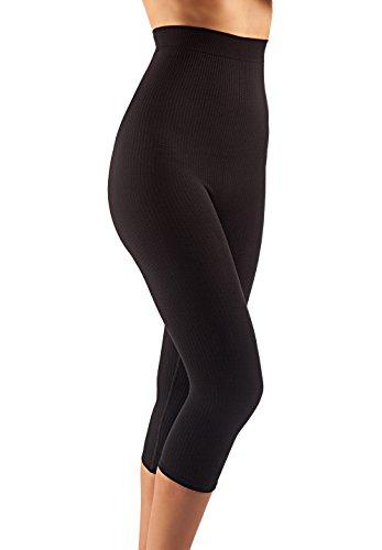 FarmaCell 123 (Nero, L/XL) guaina massaggiante vita alta sotto ginocchio calzoncino dimagrante