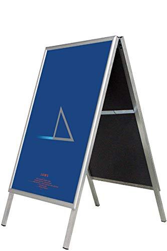 Alu-Line Straßenständer DIN A1 - Kundenstopper für Poster und Plakate - Rostfrei - Ecken (Silber)