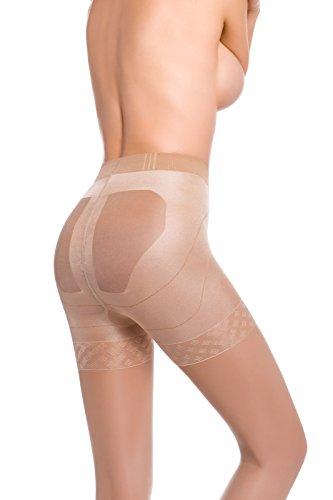 Envie® Collant Micro Slim Up Damen Shapewear formende Strumpfhose 20 DEN - 100 DEN - Made in Italy Größe - S - in 20 DEN Naturale