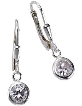 ZEEme Basic Damen-Ohrhänger 925/- Sterling Silber Zirkonia weiß 299230003
