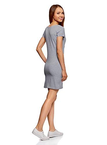 oodji Ultra Damen Jersey-Kleid (2er-Pack) Grau (2000M)