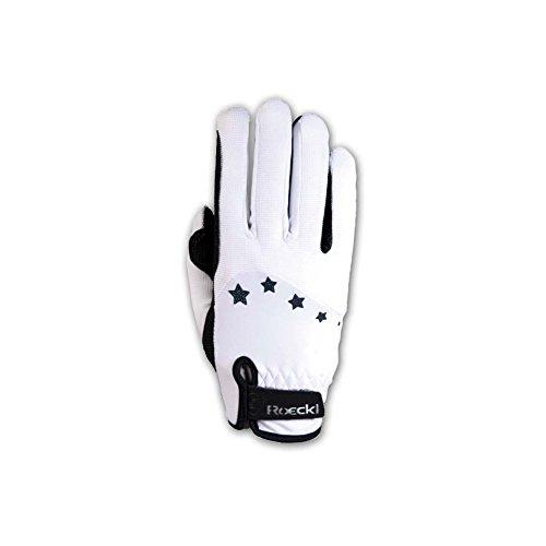 Roeckl Sports Teenies Handschuh Toronto, Reithandschuh Jugendliche, Weiß, 7,5