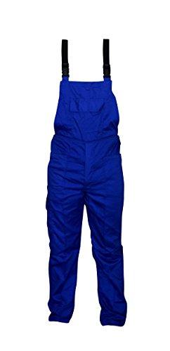 Salopette Da Lavoro In Colore Blu Royal In Poliestere e Cotone - Pantalone - Pettorina (XL)