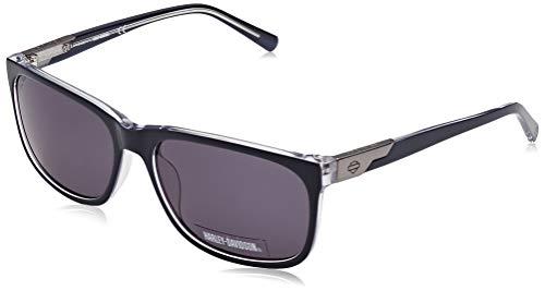 Harley-Davidson Herren HD0923X Sonnenbrille, Blau (Shiny Blue/Smoke), 60
