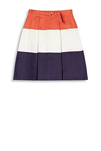 ESPRIT Collection Damen Rock 047EO1D001 Mehrfarbig (Burnt Orange 815)