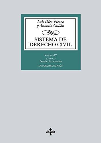 Sistema de derecho civil. Derecho de sucesiones - Volumen 4 (Derecho - Biblioteca Universitaria De Editorial Tecnos)