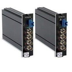 Video-multiplexer (Tetra4010TXSA SIQURA, Digitaler- 4 Kanal -LWL Video - Multiplexer -Sender für 4 Signale über 1 Faser Multimodekabel 62,5(50)/125µm, Wellenlänge 1310nm, Bandbreite 6Mhz, LWL Budget 4dB, ST-Steckern (andere optional), Tisch/Wandgehäuse)